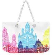 Kolkata Skyline Pop Weekender Tote Bag