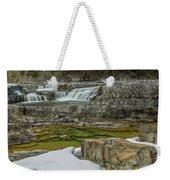 Kootenai Falls In Winter Weekender Tote Bag
