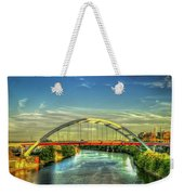 Korean Veterans Memorial Bridge 2 Nashville Tennessee Sunset Art Weekender Tote Bag