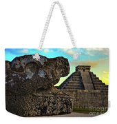 Kukulkan Pyramid At Chichen Itza In The Yucatan Of Mexico Weekender Tote Bag