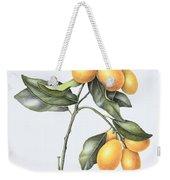 Kumquat Weekender Tote Bag by Margaret Ann Eden