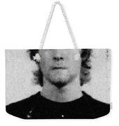 Kurt Cobain Mug Shot Painting Vertical Black And Gray Grey Weekender Tote Bag