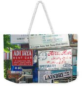 Kuta Street Signs -- Bali Weekender Tote Bag