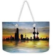 Kuwait City Sunset From The Bay Weekender Tote Bag