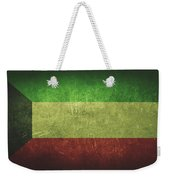 Kuwait Distressed Flag Dehner Weekender Tote Bag