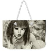 Kylie - Cute And Sassy - Black And White Classic Weekender Tote Bag