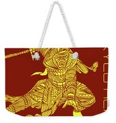 Kylo Ren - Star Wars Art - Red And Yellow Weekender Tote Bag