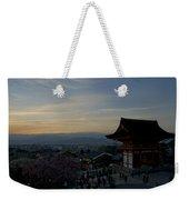 Kyoto And Kiyomizu-dera At Sunset Weekender Tote Bag
