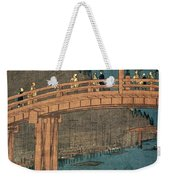 Kyoto Bridge By Moonlight Weekender Tote Bag