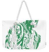 Kyrie Irving Boston Celtics Pixel Art 42 Weekender Tote Bag