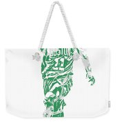 Kyrie Irving Boston Celtics Pixel Art 43 Weekender Tote Bag