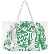 Kyrie Irving Boston Celtics Pixel Art 7 Weekender Tote Bag