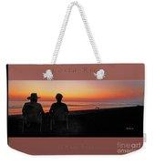 la Casita Playa Hermosa Puntarenas Costa Rica - Sunset Happy Couple Panorama Greeting Card Bold Weekender Tote Bag