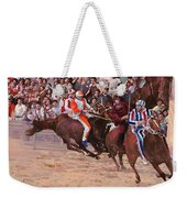 La Corsa Del Palio Weekender Tote Bag by Guido Borelli