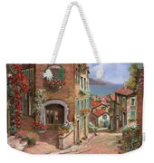 La Discesa Al Mare Weekender Tote Bag by Guido Borelli