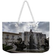La Fontana Di Diana - Fountain Of Diana Silver Jets And Sky Drama Weekender Tote Bag