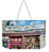 La Gacilly, Morbihan, Brittany, France, Wooden Toy Store Weekender Tote Bag