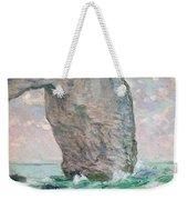 La Manneporte A Etretat Weekender Tote Bag by Claude Monet