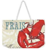 La Mer Shellfish 2 Weekender Tote Bag by Debbie DeWitt