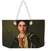 La Montera Segovia Girl In Fiesta Costume 1912 Weekender Tote Bag