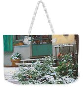 La Neve A Casa Weekender Tote Bag by Guido Borelli
