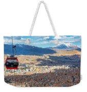 La Paz Cable Car Weekender Tote Bag