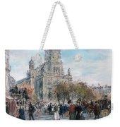 La Place De Trinite Weekender Tote Bag by Jean Francois Raffaelli