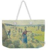 The Harvesting Of Hay Eragny  Weekender Tote Bag