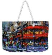 La Rotonde Paris Modern Impressionist Palette Knife Oil Painting Weekender Tote Bag