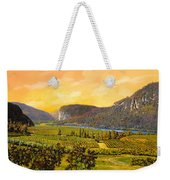 La Vigna Sul Fiume Weekender Tote Bag by Guido Borelli