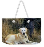 Lab And Fire Hydrant Weekender Tote Bag