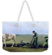Labourer And Peasant  Weekender Tote Bag by Vincent van Gogh
