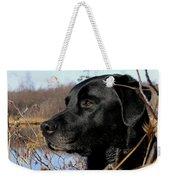 Labrador Retriever Waiting In Blind Weekender Tote Bag
