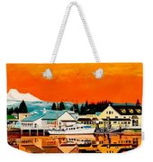 Laconner Last Water Front Panel Painting Weekender Tote Bag