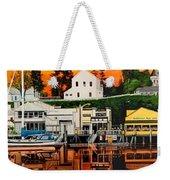 Laconner Waterfront Art Panel Weekender Tote Bag
