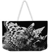 Lacy Black And White Weekender Tote Bag