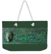 Lady Abstract Wall Sculpture Weekender Tote Bag