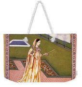 Lady Alone At Holi Festival Weekender Tote Bag