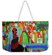 Lady And Her Cat Weekender Tote Bag