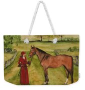 Lady And Horse Weekender Tote Bag