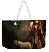 Lady And The Wolf Weekender Tote Bag