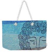 Lady Blue Weekender Tote Bag