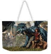 Lady Blue Dragon Weekender Tote Bag