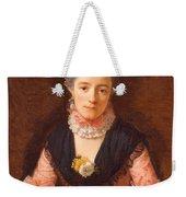 Lady In A Pink Silk Dress Weekender Tote Bag