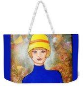 Lady In A Yellow Hat Weekender Tote Bag