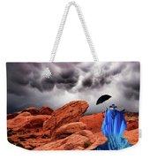 Lady In Blue Nevada Weekender Tote Bag