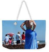 Lady In Blue Weekender Tote Bag