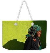 Lady In Green Weekender Tote Bag