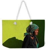 Lady In Green Weekender Tote Bag
