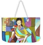 Lady In Mosaic Weekender Tote Bag